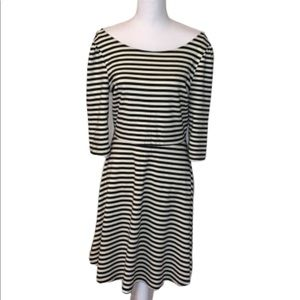 Pixley black and white stripped dress